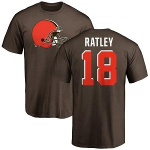 Damion Ratley Cleveland Browns Youth Brown Pro Line Any Name & Number Logo T-Shirt -