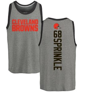 Tracy Sprinkle Cleveland Browns Youth by Backer Tri-Blend Tank Top - Ash