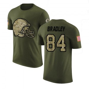 Ja'Marcus Bradley Cleveland Browns Youth Legend Olive Salute to Service T-Shirt