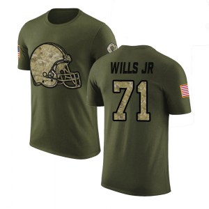 Jedrick Wills Jr. Cleveland Browns Youth Legend Olive Salute to Service T-Shirt
