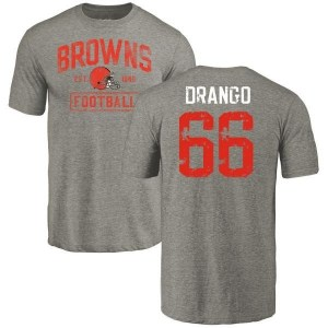 Spencer Drango Cleveland Browns Youth Gray Distressed Name & Number Tri-Blend T-Shirt