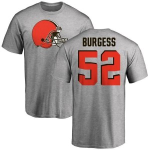 James Burgess Cleveland Browns Youth Pro Line Name & Number Logo T-Shirt - Ash