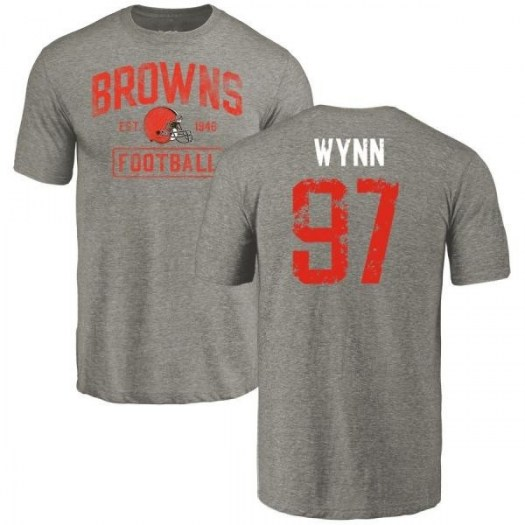 Dylan Wynn Cleveland Browns Youth Gray Distressed Name & Number Tri-Blend T-Shirt