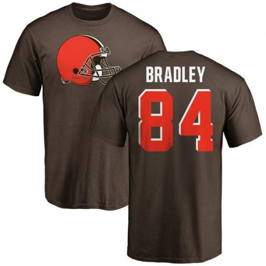Ja'Marcus Bradley Cleveland Browns Youth Brown Name & Number Logo T-Shirt -
