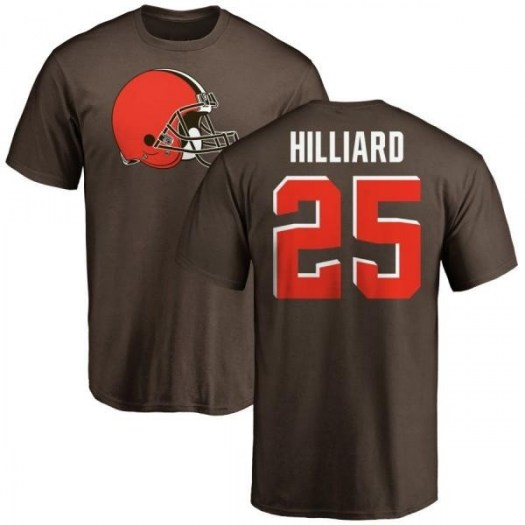 Dontrell Hilliard Cleveland Browns Youth Brown Pro Line Any Name & Number Logo T-Shirt -
