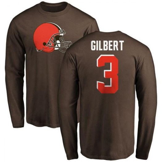Garrett Gilbert Cleveland Browns Youth Brown Any Name & Number Logo Long Sleeve T-Shirt -