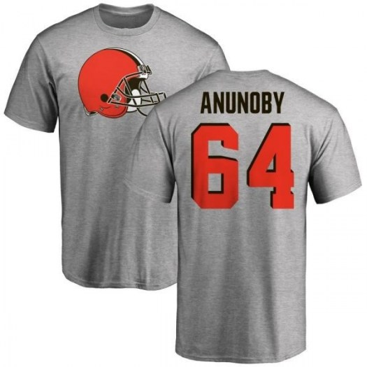 Chigbo Anunoby Cleveland Browns Men's Name & Number Logo T-Shirt - Ash