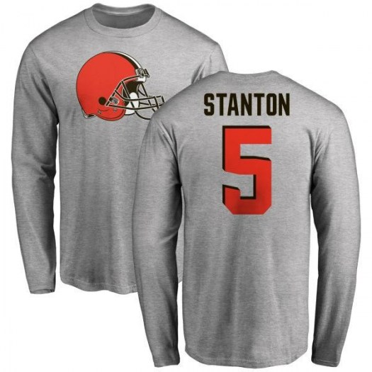 Drew Stanton Cleveland Browns Youth Name & Number Logo Long Sleeve T-Shirt - Ash