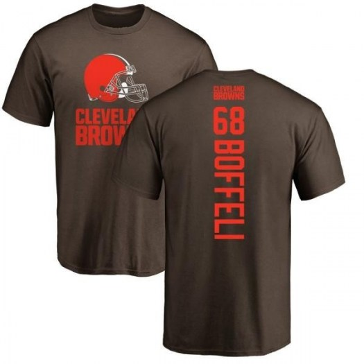 Conor Boffeli Cleveland Browns Men's Brown Backer T-Shirt -