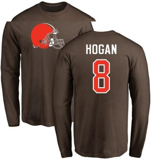 Kevin Hogan Cleveland Browns Youth Brown Pro Line Any Name & Number Logo Long Sleeve T-Shirt -