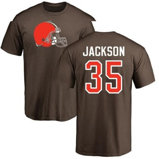 Darius Jackson Cleveland Browns Men's Brown Pro Line Any Name & Number Logo T-Shirt -