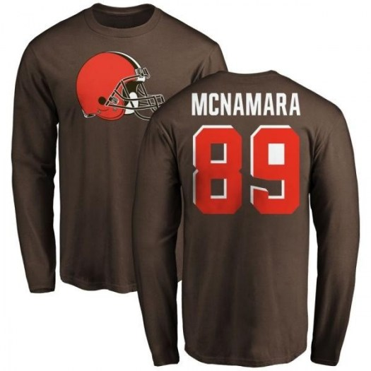 Taylor McNamara Cleveland Browns Men's Brown Pro Line Any Name & Number Logo Long Sleeve T-Shirt -