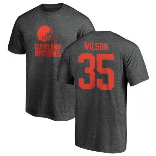 Howard Wilson Cleveland Browns Men's Pro Line by Branded One Color T-Shirt - Ash